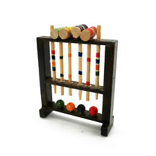 Dollhouse Wooden Outdoor Sport Game Croquet Shelf 1:12 Miniature Accessories