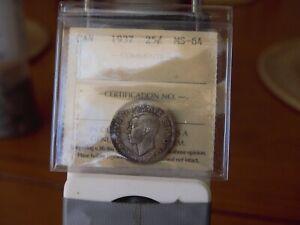 ICCS  1937  ms-64  Canadian 25 cent