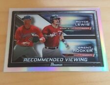 2017 Bowman Draft Royce Lewis Brent Rooker Recommended Viewing Chrome Refractor