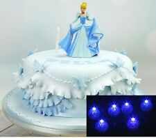 Light Up your Wedding Cake Decorations Toppers w/ 5 Spot Lights -Various Colours