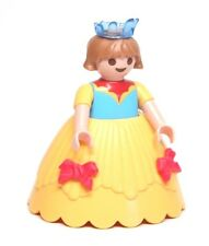 Playmobil Figure Princess Castle Girl Child w/ Yellow Hoop Skirt Blue Crown 4249