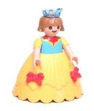 Playmobil Figure Princess Castle Girl Child w/ Yellow Hoop Skirt Blue Crown 4249