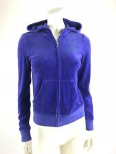 Juicy Couture Women's Jacket Size Small Purple Zip Up Hoodie Velour Shine Juicy