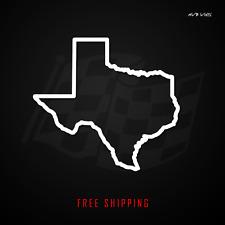 Texas State Outline Vinyl Decal Sticker | TX Texan Pride 508