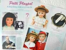 7p History Article + Color Pics -   VTG Ideal Patti Playpal Dolls