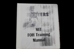 Vtg LIMITED MADE 2002 Hooters Manager FOH Waitress Hostess Training Manual Book