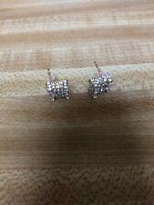 Gold 1/4 Carat TWT SQUARE Stud Earrings  Diamonds.