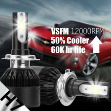 2Pcs H7 COB LED Auto Car Headlight Kit Head Bulb Light White 6500K