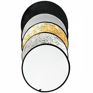 """24"""" 5 in 1 Portable Photo Studio Multi Disc Pop-Up Collapsible Reflector"""