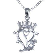 Collares y colgantes de joyería de metales preciosos sin piedras plata