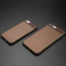 Luxury Hybrid Leather Ultra Thin Slim Back Case Cover For iPhone 6 6S 7 / Plus