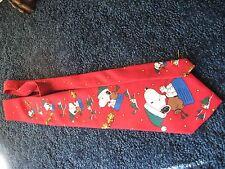 "Peanuts-Greetings From Santa Snoopy-Necktie-USA-Silk-56 1/2"""