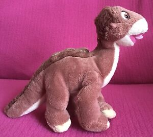 """The Land Before Time Littlefoot Dinosaur Brown Soft Plush Toy 7"""" x 9"""" Posh Paws"""