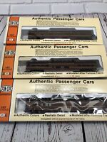 Concor ho scale 3 passenger cars Pennsylvania Coach,baggage,& Dome Cars.