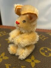 Vintage Possible Schuco Miniature Mohair Bunny Rabbit 3 Inches Tall Standing