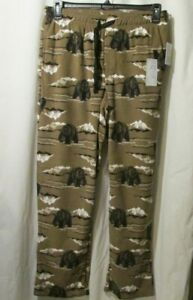 Men's Croft & Barrow sleep lounge pants Size Medium Brown Bears (2-353/B6