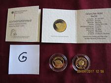 20 Euro Buche Deutscher Wald G = Karlsruhe GOLD 2011 mit Zertifikat