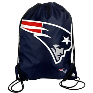 New England Patriots Back Pack Sack Drawstring Bag Tote NEW Backpack BIG LOGO