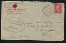 1919 US Postal Agency in Siberia Censored Cover The American Red Cross to PA
