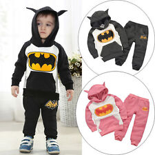 Kinder Batman Jogginganzug Sportanzug Trainingsanzug Kapuzenpullover Hosen Set