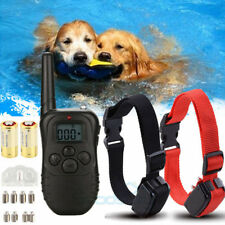 2 Dog Shock Training Collar Pet Trainer with Remote 4 Modes Waterproof 1000 Yard