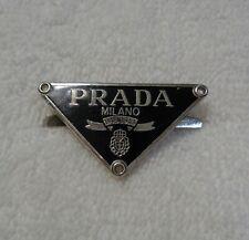 """Prada Milano Metal Logo Plate Hardware  1.5"""" x 1"""""""