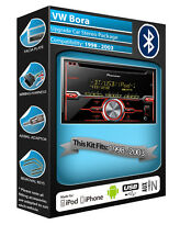 VW Bora Lettore CD, Pioneer stereo auto Aux in USB, KIT Bluetooth Vivavoce