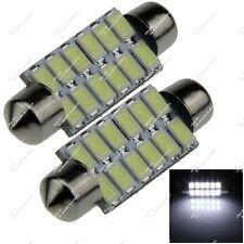 Pair 41mm 42MM 12 SMD 5630 LED Ceiling Light Interior Festoon Bulb Auto ZI310