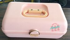 Vintage Caboodles of California pink Make Up Case 2-Tier  Model #2620