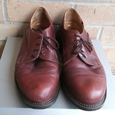 Vintage Crown Windsor Bostonian 12m Cap Toe Lace Up Maroon Leather Oxford