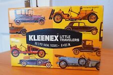 Kleenex LITTLE TRAVELERS ~ Facial Tissues ~ Vintage Retro Cars ~ 1971