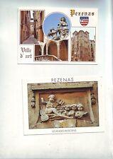 lot 2 cartes postales  -vierges a ecrire - PEZENAS