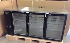 """BACK BAR COOLER 72"""" Underbar Beer 3 Door  GLASS 6' Refrigerator Backbar"""