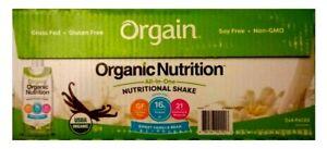 (12) Pack Orgain Organic Nutritional Shake Vanilla Bean, 11 oz Ea (Date:12/2021)