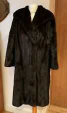 """Vintage George Smith & Sons London Brown Musquash Fur Coat Bust 42"""" Approx"""