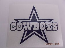 Dallas Cowboys and Star Decal for Tumbler,Rambler,Car,Truck