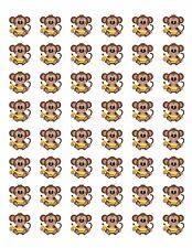 "48 BABY MONKEY ENVELOPE SEALS LABELS STICKERS 1.2"" ROUND !"