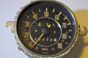Vintage VW Volkswagen Bug Beetle Ghia Type 1 Speedometer Fuel Odometer Gauge