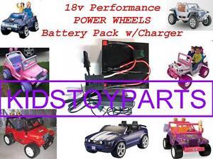 18 Volt Battery/Charger FOR12v Power Wheels Quads Cars Trucks & $20 CASH OPTION