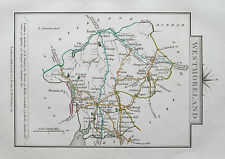 WESTMORELAND 1828 Miniature Antique Map by Cary Hand Coloured