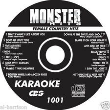 KARAOKE MONSTER HITS CD+G FEMALE COUNTRY #1001