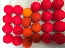 """24 Volvik """"Vivid"""" Mixed Red/Orange Color 5A/4A Golf Balls (12 each color)"""
