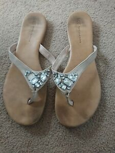 M&S Sandals Toe Posts Thing Flip Flops Size 8