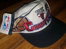 NEW Vtg 1996 CHICAGO BULLS NBA CHAMPS LOCKER ROOM SNAPBACK HAT MICHAEL JORDAN MJ