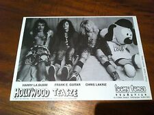 HOLLYWOOD TEASZE Black & White Band Promo Photo Glam Rock Hair Metal NEW Rare