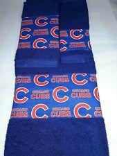 Chicago Cubs MLB 3 Piece Bath Towel Set Handmade Great Gift!!