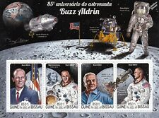 NASA Astronaut BUZZ ALDRIN Apollo XI Space Moon Stamp Sheet (2015 Guinea-Bissau)