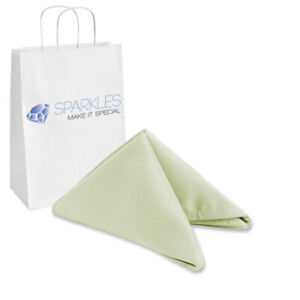 "20""x20"" inch Polyester Cloth Napkin - Silver - Wedding Linen Restaurant zp"