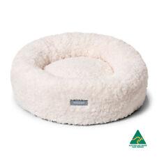 Snooza Cuddler Dog Cat Pet Bed Mock Lambswool Natural Medium 70cm