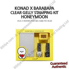 KONAD X BARABAPA CLEAR GELLY STAMPING KIT HONEYMOON NAIL ART PROFESSIONAL